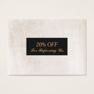 Elegant White Marble Salon and Spa Referral Business Card