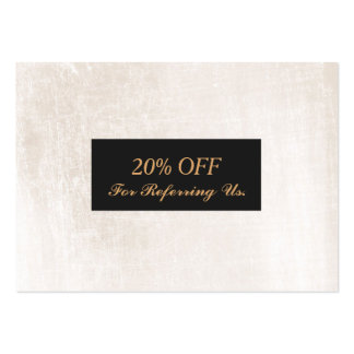 Elegant White Marble Salon and Spa Referral Large Business Card
