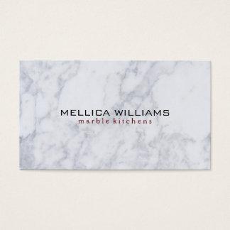 Elegant White Marble Stone background Business Card
