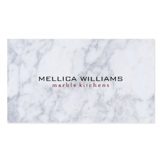Elegant White Marble Stone background Double-Sided Standard Business Cards (Pack Of 100)