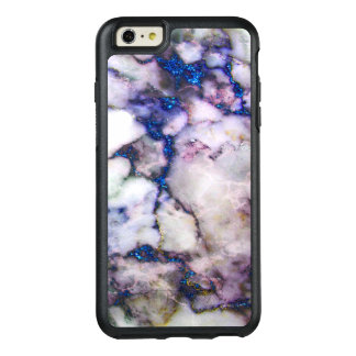 Elegant White Marble With Pink And Blue OtterBox iPhone 6/6s Plus Case