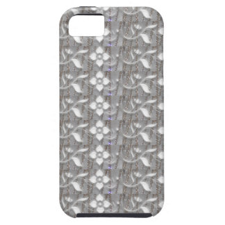 Elegant WHITE n SILVER Flowers NVN167 NavinJOSHI iPhone 5 Covers