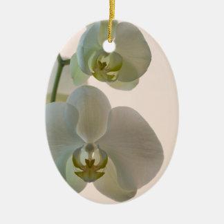 Elegant White Orchids Bridesmaid Thank You Ceramic Ornament