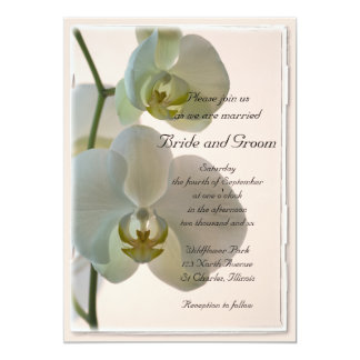 Elegant White Orchids Wedding Card