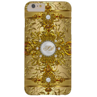 Elegant White Ornate Rich Gold Barely There iPhone 6 Plus Case