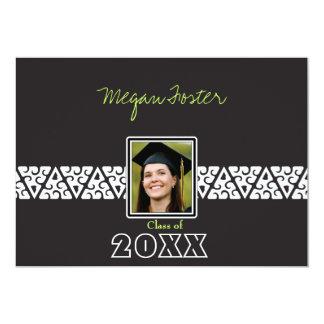 Elegant White panel - Graduation Invites