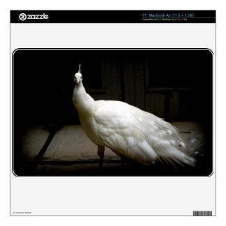 "Elegant white peacock vintage nature bird photo skins for 11"" MacBook air"