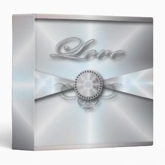 Elegant White Pearl Wedding Binder for Bride