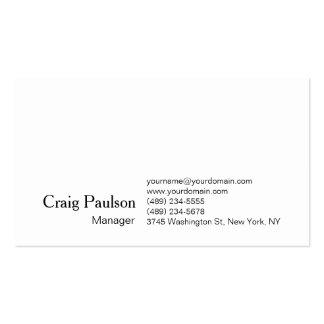 Elegant White Plain Simple Trendy Business Card