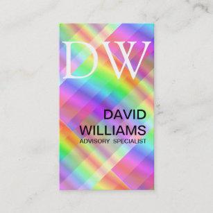 Iridescent business cards templates zazzle elegant white professional iridescent hologram business card colourmoves