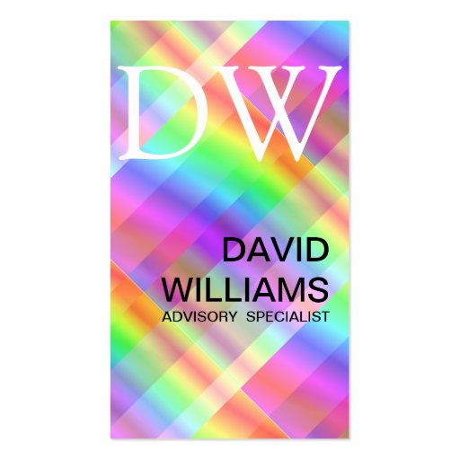 Elegant white professional iridescent hologram business for Iridescent business cards