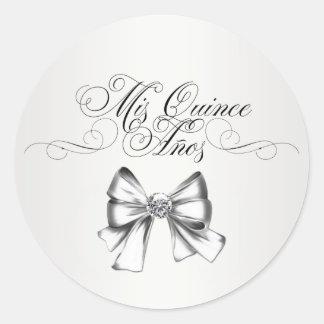 Elegant White Quinceanera Stickers