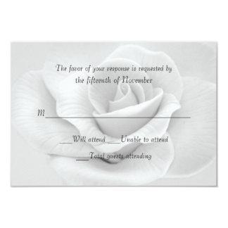 Elegant White Rose Custom Wedding Response Card