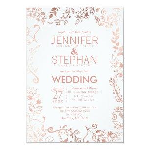 Gold And White Wedding Invitations & Announcements | Zazzle