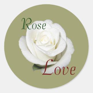 Elegant White Rose sticker