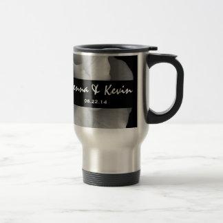 Elegant White Rose Wedding Gift Collection Travel Mug