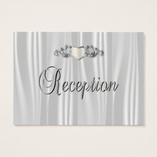 Elegant White Satin Business Card