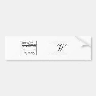 Elegant White/Silver Wedding Water Bottle Label Car Bumper Sticker