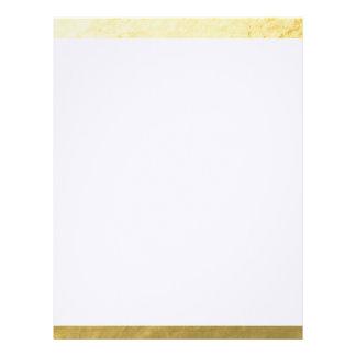 Elegant White Stripes Gold Foil Printed Letterhead