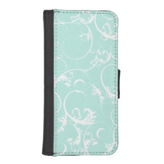 Elegant White Swirls iPhone SE/5/5s Wallet