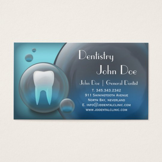 Elegant white teeth bubble dental business card | Zazzle.com