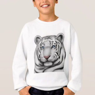 Elegant White Tiger Kids Sweatshirt