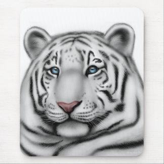 Elegant White Tiger Mousepad