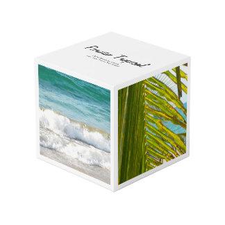 Elegant White Tropical Cube