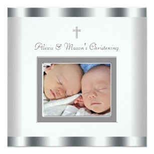 60 off twins 5x5 baptism invitations shop now to save zazzle