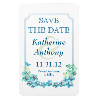 elegant white Victorian style save the date magnet