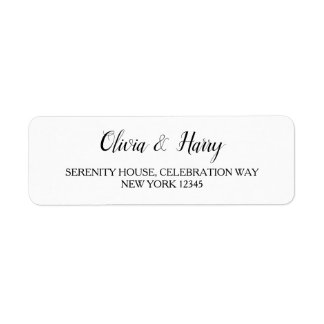 Elegant White Wedding Return Address Labels
