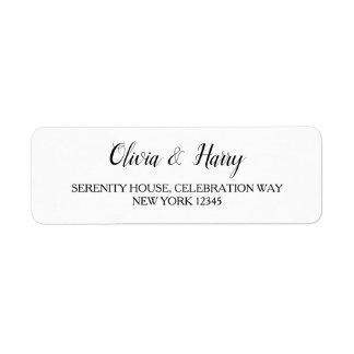 Elegant White Wedding Return Address Labels
