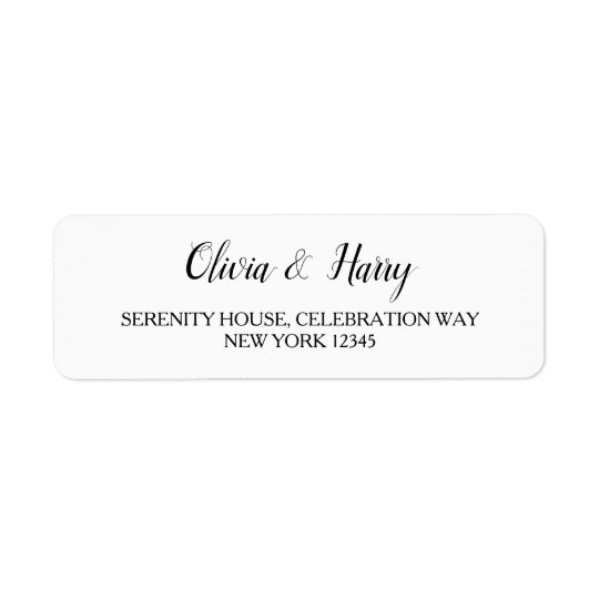 elegant white wedding return address labels zazzle com