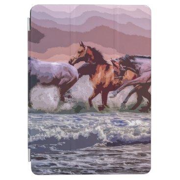 Elegant Wild Horses Artwork   iPad Air Case
