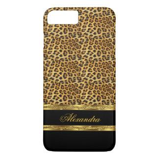 Elegant Wild Leopard Black and Gold iPhone 7 Plus Case