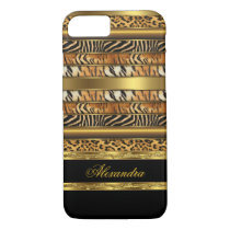 Elegant Wild Mixed Animal Black Gold 2 iPhone 7 Case