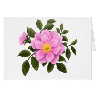 Elegant Wild Rose Card