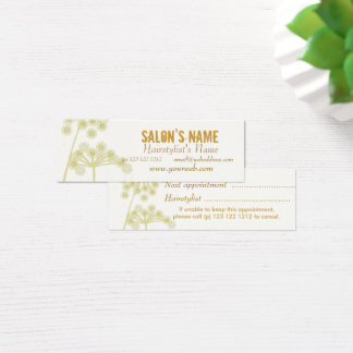 Elegant Wildflowers Modern Professional Floral Mini Business Card