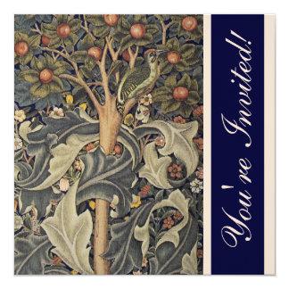"""Elegant William Morris Invitations 5.25"""" Square Invitation Card"""