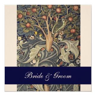 """Elegant William Morris Wedding Invitations 5.25"""" Square Invitation Card"""