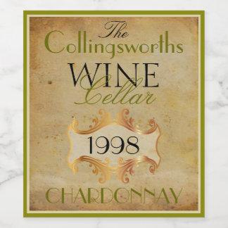 Elegant Wine Bottle Label Personalized