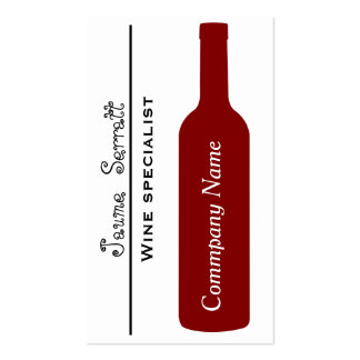 ELEGANT WINE BOTTLE MODERN SIMPLE TARGET Double-Sided STANDARD BUSINESS CARDS (Pack OF 100)