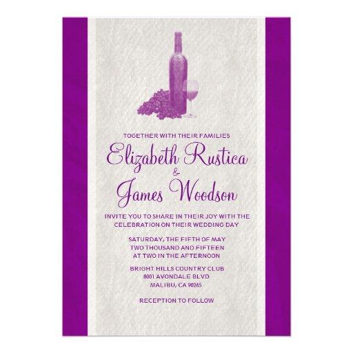 Elegant Wine Bottle Wedding Invitations