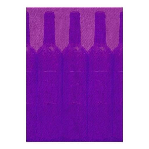 Elegant Wine Bottles Wedding Invitations (back side)
