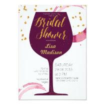elegant Wine Bridal Shower Invitation
