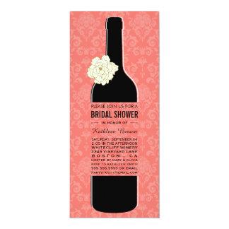 Elegant Wine Bridal Shower Invitations