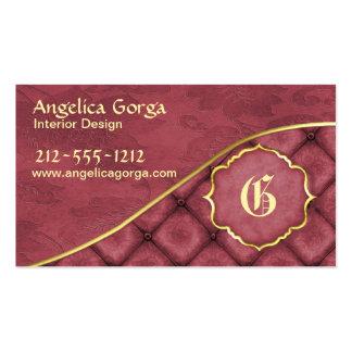 Elegant Wine Damask Business Card