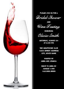 Wine bridal shower invitations announcements zazzle elegant wine glass bridal shower invitations filmwisefo