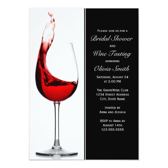 Top Elegant Wine Glass Bridal Shower Invitations | Zazzle.com GC16