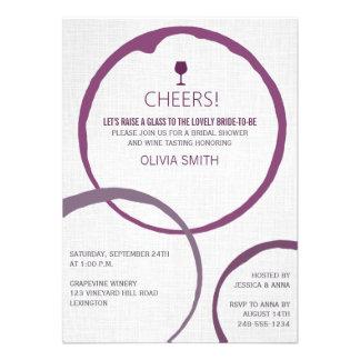Elegant Wine Stain Rings Bridal Shower Invitations Personalized Invitations